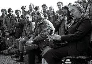 Golda Meir and Moshe Dayan 1973 (photo credit - REUTERS)