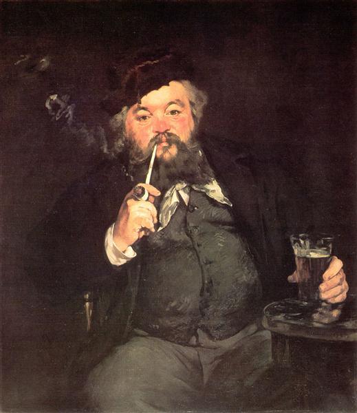 כוס בירה טובה, אדואר מאנה, 1973 מוצג כיום במוזיאון לאומנות בפילדלפיה.