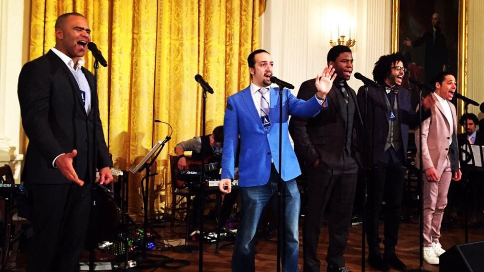 Hamilton cast at the White House 2016