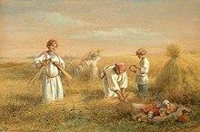 בזיעת אפיך תאכל לחם. ציור משנת 1889